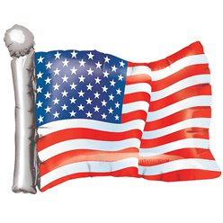 Amerikaanse Vlag Supershape Folie Ballon - 68.5 cm Folie