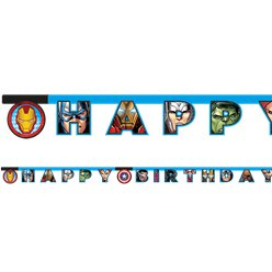 "Machtige Avengers ""Happy Birthday"" Letter Banner"