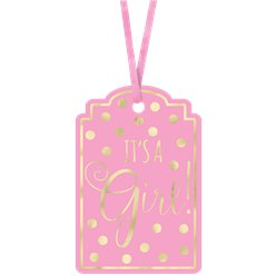 It's A Girl Roze Baby Shower Cadeaulabels