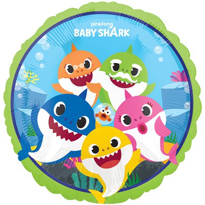 Baby Shark Ballon - 46 cm Folie