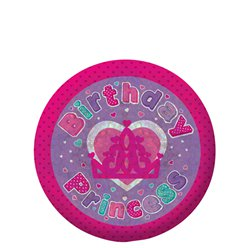 Happy Birthday Prinses Button - 5.5cm