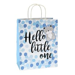 Blue Spot Hello Little One Large Gift Bag - 33cm