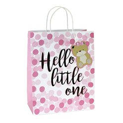 Pink Spot Hello Little One Large Gift Bag - 33cm