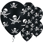 Jolly Roger Piraten Ballonnen - 28 cm Latex