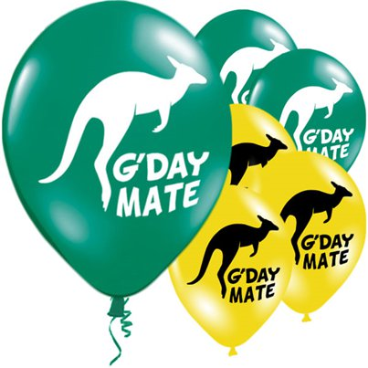 Australische G'Day Mate Ballon - 28 cm Latex