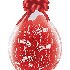 I Love You Doorzichtige Opvulbare Ballon - 46 cm Latex