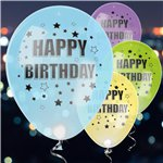 LED Happy Birthday Latex Ballonnen - 28 cm