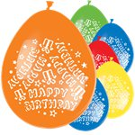 Multi Happy Birthday Ballonnen - 28 cm Latex