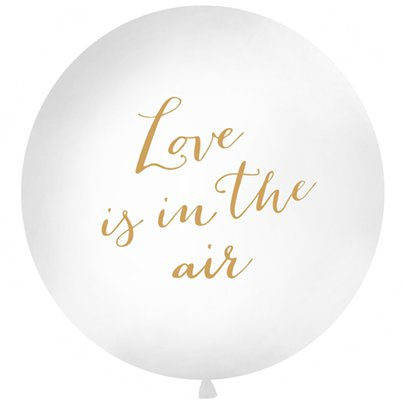 Gouden Love Is In The Air Ballon - 91 cm Latex