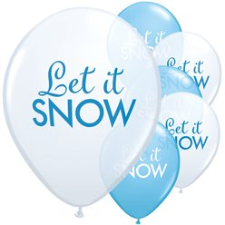 Let It Snow Ballonnen - 28 cm Latex
