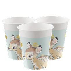 Bambi Papieren Bekers - 200 ml