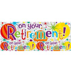 On Your Retirement Folie Banner 2.6m