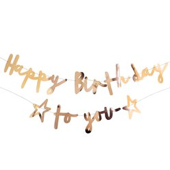 Happy Birthday to You Gouden Letter Banner