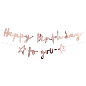 Happy Birthday to You Roze Gouden 1 (Banners)