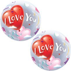 'I Love You' Valentijnsdag Bubbel Ballon - 64 cm