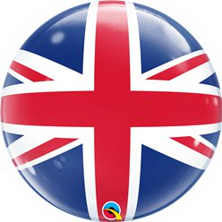 Union Jack Bubbel Ballon - 56 cm