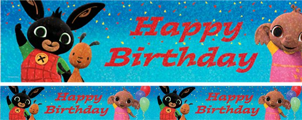 Bing Happy Birthday Holografische Folie Banner