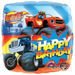 Blaze Happy Birthday Vierkante Ballon - 46 cm Folie