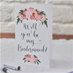 Boho Bruiloft 'Will You Be My Bridesmaid?' Kaarten