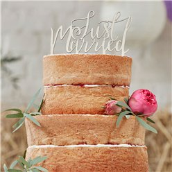 Boho 'Just Married' Bruidstaart Topper