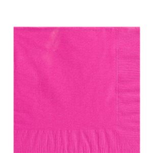 Hot Pink Luncheon Napkins - 2ply Paper
