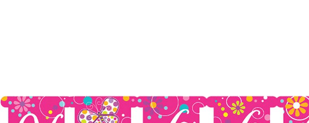 Vlinder Glitter Happy Birthday Letter Banner