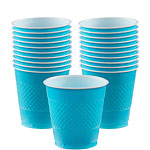 Turquoise Bekers - 355 ml Plastic Feestbekers