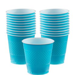 Turquoise Bekers - 355 ml Plastic