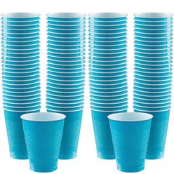 Turquoise Bekers - 473ml Plastic Feestbekers