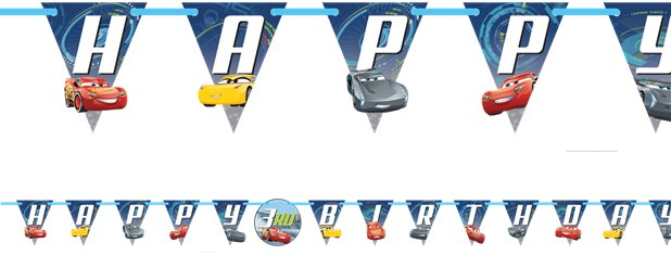 Cars 3 Grote Letter Banner - 3.2m