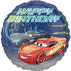 Cars Happy Birthday Folie Ballon - 46 cm
