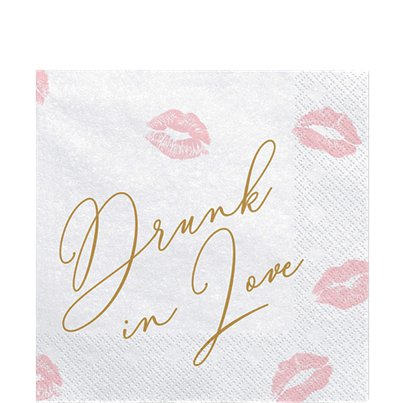 Drunk In Love Lippen Papieren Servetten - 33 cm