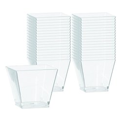 Doorzichtige Plastic Mini Cocktail Bakjes - 59 ml