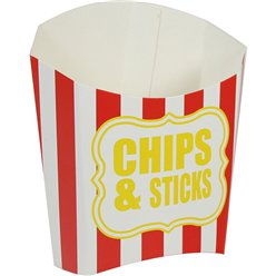 Chips & Sticks Rood Gestreepte Frietbakje