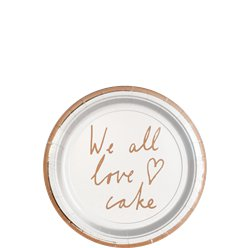 We All Love Cake Dessertborden - 13 cm