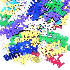 Meerkleurige Happy Birthday Confetti