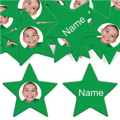 Green Star Personalised Confet