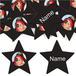 Black Star Personalised Confet