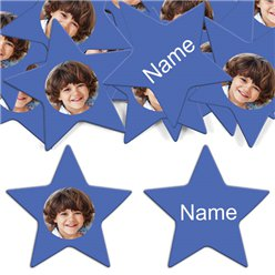 Royal Blue Star Personalised Confetti
