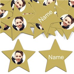 Gold Star Personalised Confett