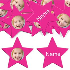 Hot Pink Star Personalised Con