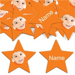 Orange Star Personalised Confe