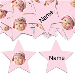 Baby Pink Star Personalised Co