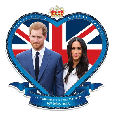 Harry & Meghan Wall Cutout - 62 cm