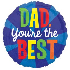 'Dad, You're the Best' Vaderdag Ballon - 46 cm Folie