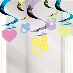 Baby Shower Hangende Swirl Decoratie