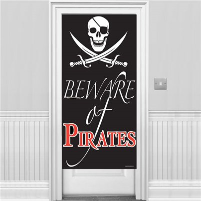 Beware of Pirates Deurbanner 1.5 m