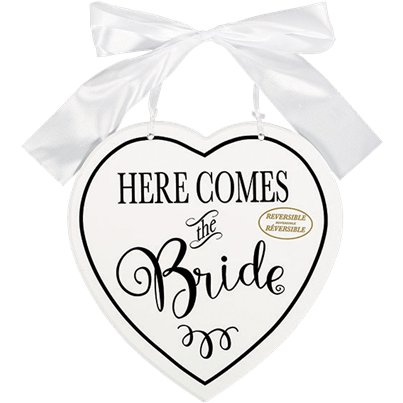 """Here Comes The Bride"" Dubbelzijdig MDF Bord"