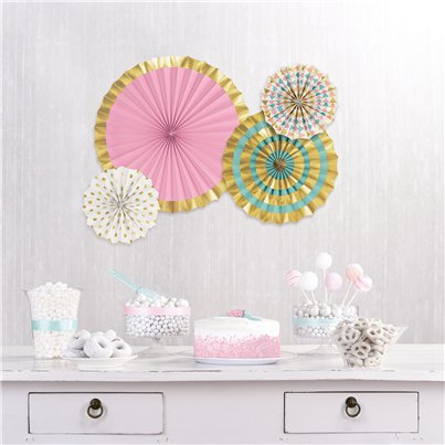 Pastel & Metallic Papieren Waaier Decoraties