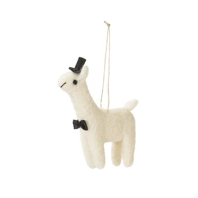 Mr Lama In Love Mini Vilten Decoratie